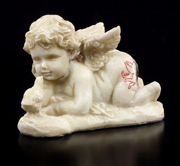 Engel Gartenfigur - Putte liegend