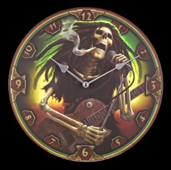 Wanduhr - Skelett Rocker - Dead Dread