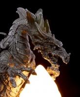 Drachenlampe - Drache mit Feuerkugel