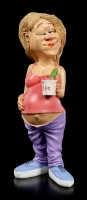 Funny Life Figurine - Pregnant with Ice Cream and Pickle