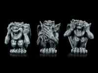 Three little Gargoyles Figurines - No Evil