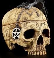 Ritual Schädel Schatulle mit Krähe - Salems Familiar