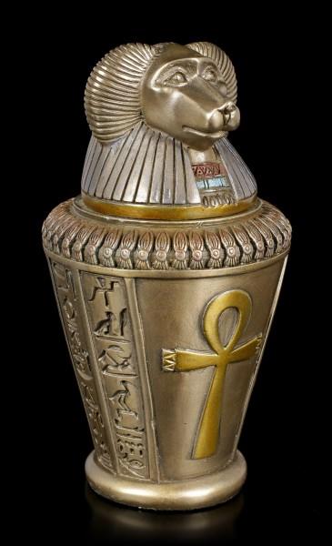Kanopenkrug - Horussohn Hapi - bronziert
