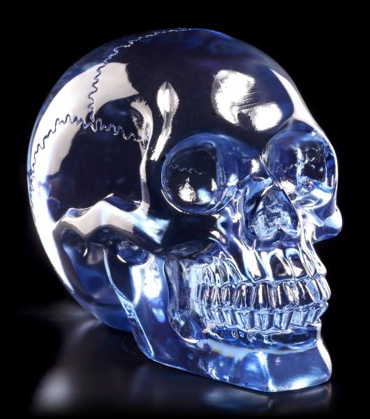Durchsichtiger Totenkopf - Hellblau