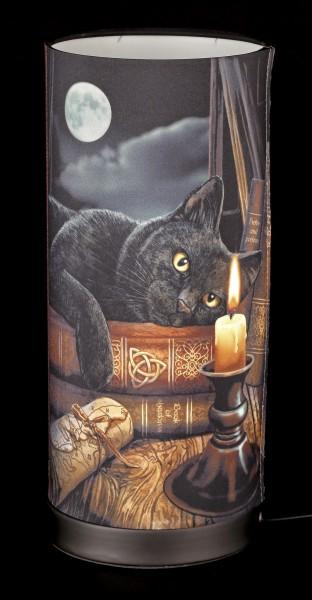 Tischlampe mit Katze - Witching Hour