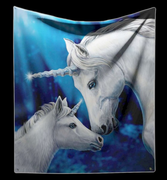 Fluffy Blanket Unicorns - Sacred Love by Lisa Parker