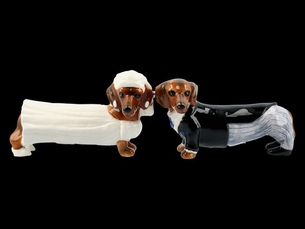 Salt & Pepper Shaker - Doxies Bride and Groom