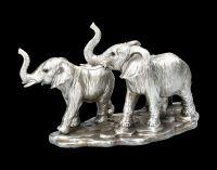 Elefanten Figur - Familie Antik Silber