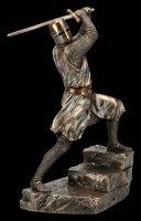 Tempelritter Figur mit Zweihänder Schwert