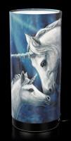 Tischlampe mit Einhörnern - Sacred Love