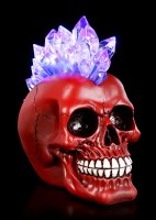 Mohican Skull LED - Red Crystal Hawk