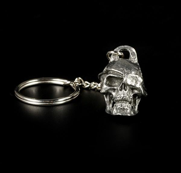 Pewter Skull Key Ring - Pirate