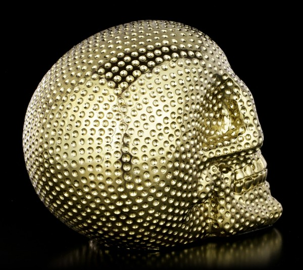 Skull with Dimples - gold colored