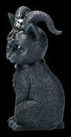 Okkulte Katzenfigur mit Hörnern - Pawzuph