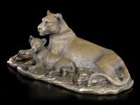 Löwen Figur mit Jungtier