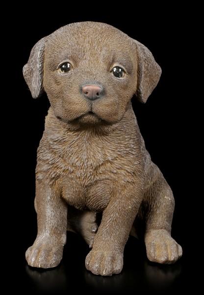 Dog Figurine - Choco Labrador Puppy