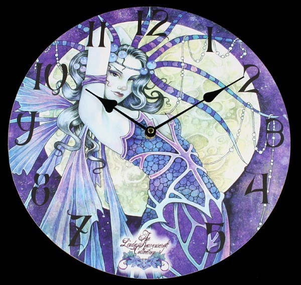 Elfen Wanduhr - Blue Moon