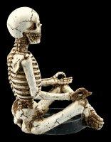 Yoga Skelett Teelichthalter - Muktasana