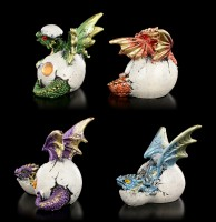 Small Dragon Figurines Set of 4 - Hatching
