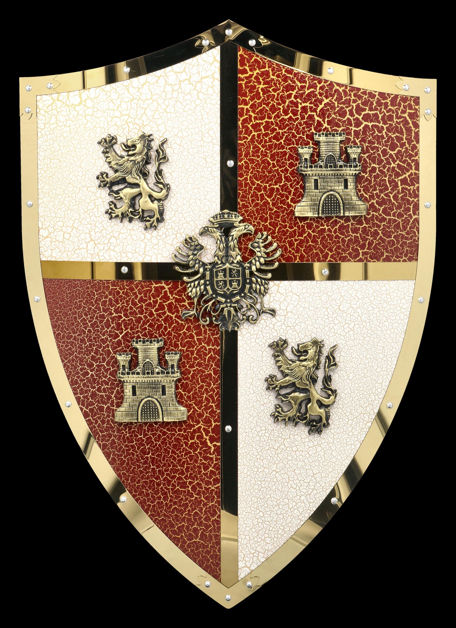 Wandrelief Templer Wappen Mittelalter Zeichen Schild Wanddeko Ritter