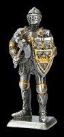 Zinn Ritter Figur mit Schild und Axt