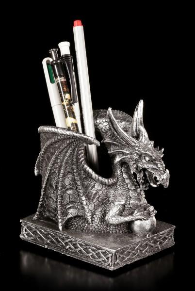 Dragon Pen Holder - Ferrum silver