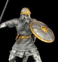 Pewter Viking Figurine in Action