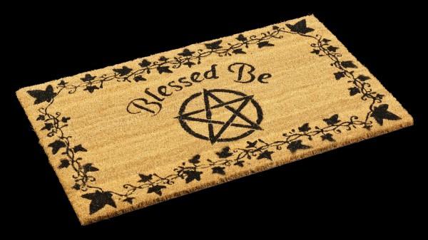 Fantasy Fußmatte mit Pentagramm - Blessed Be