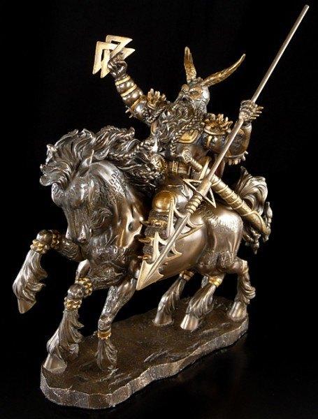 Odin auf achtbeinigem Pferd Sleipnir