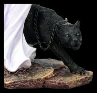 Fairy Figurine with Panther on a Leash
