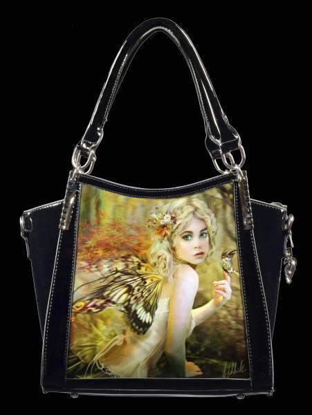 Lack Handtasche mit 3D Motiv - Touch of Gold