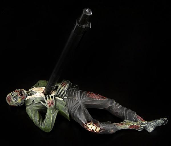 Zombie Stiftehalter im grünen Anzug