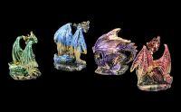 Colorful Dragon Figurine Set of 12 - Elements