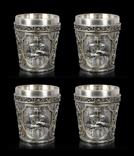 Medieval Shot Glasses - Crusader Set of 4