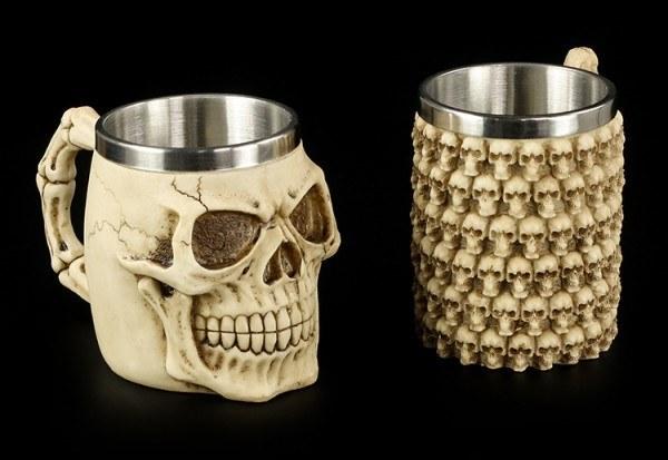 Skull Tankards - Set of 2