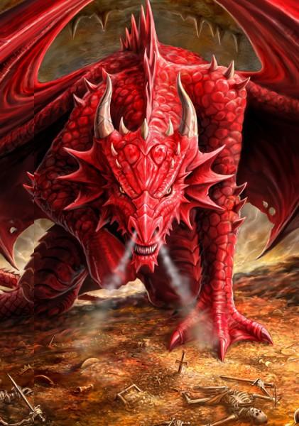 Fantasy Grußkarte Drache - Dragons Lair