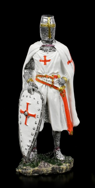 Weiße Kreuzritter Figuren - 4er Set