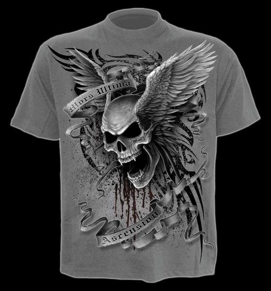 T-Shirt - Geflügelter Totenkopf grau - Ascension
