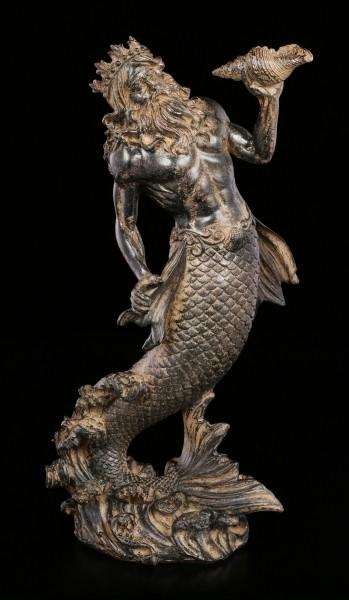 Poseidon Figur mit Muschel