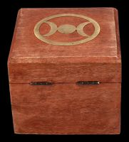 Holzbox - Messing Dreifach-Mond