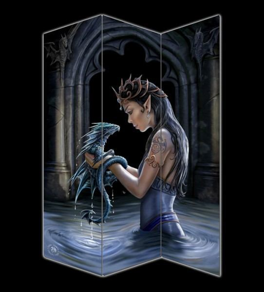 Raumteiler - Water Dragon by Anne Stokes
