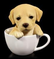 Dog Figurine - Labrador Teacup Pup