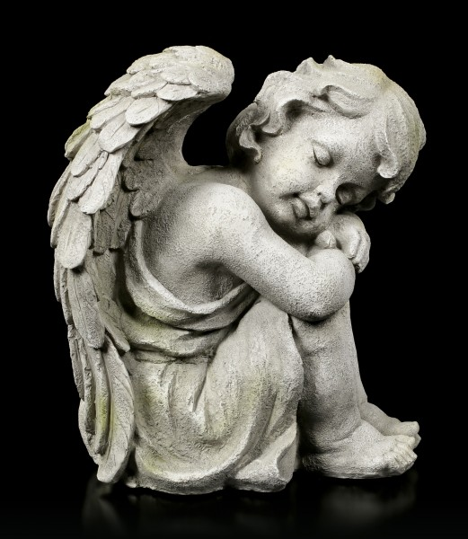 Angel Garden Figurine - Sleeping Child right