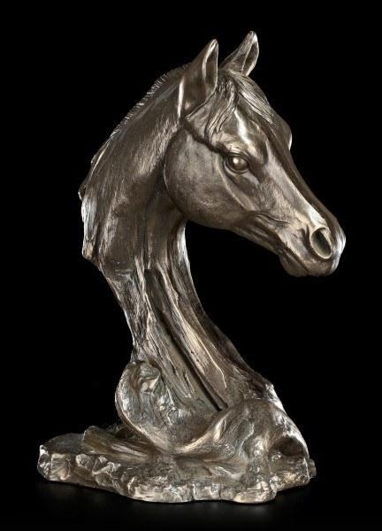 Große Pferdekopf Büste