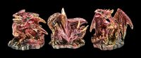 Colorful Dragon Figurine Set of 12 - Elements
