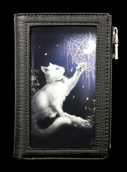 Wallet with 3D Cat - Snow Kitten