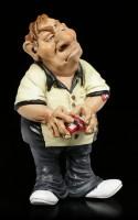 Funny Job Figurine - Poker Player mixes Cards