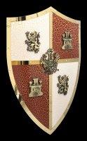Ritter Schild mit Löwen und Burg Wappen