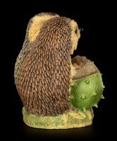 Funny Hedgehog Figurine with Chestnut - I love you