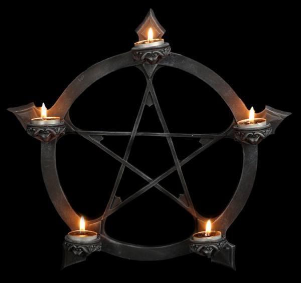 Wandteelichthalter Pentagramm